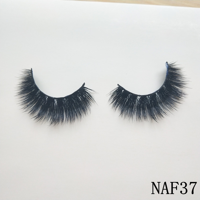 UPS Free Shipping 50pairs BLANDA Natural mink eyelashes 3D Thick Mink Hand Made Flase Ey ...
