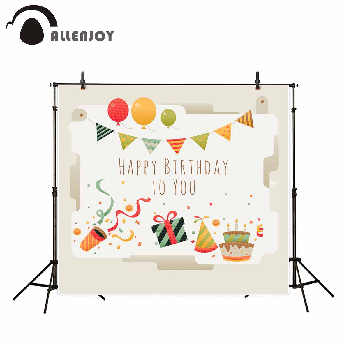 Allenjoy photography backdrop Balloon Bunny Salute Birthday Child new background photocall customize photo floral backdrop