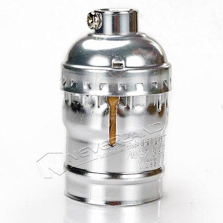 Ретро Винтаж Эдисон E26/E27 винт лампы алюминиевый корпус база лампа держатель подвесной светильник ing разъем потолочный светильник адаптер кабель - Цвет: No Wire No Switch SI