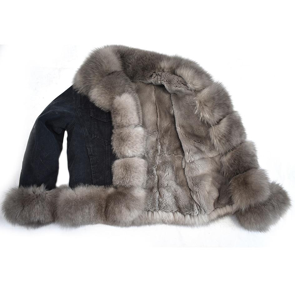 2018 Chaud Veste De Style Fox Naturel Et Mode Casual Nouveau Européen Street D'explosion Américain Jean Fourrure Dames En Modèles Rabbit Lining Fur Lining cotton rUYq8r7