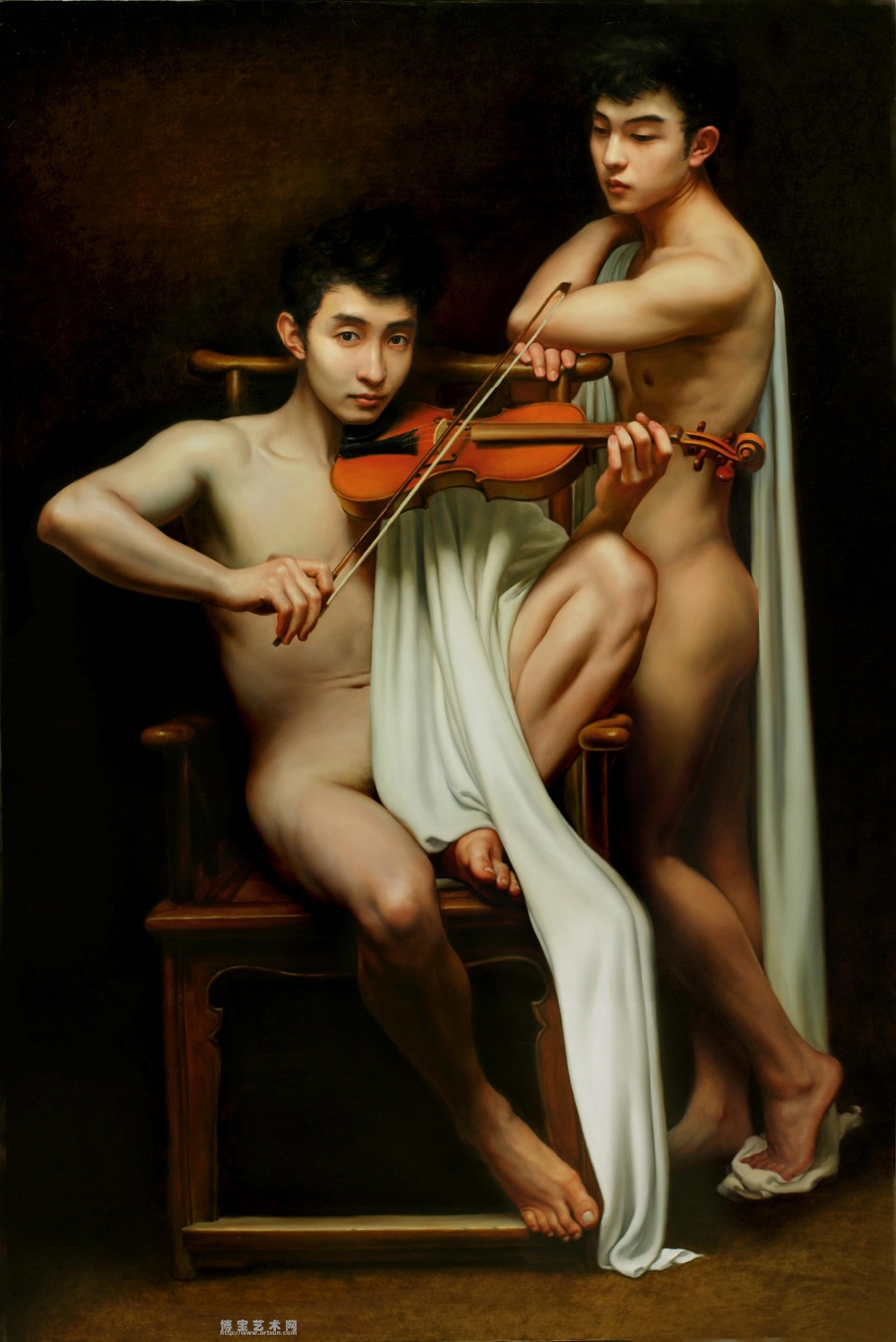 hot sale GOOD quality TOP art oil painting work nude male Nice GAY MAN oil painting male art Romantic & inebriation