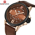 Naviforce novos homens de luxo da marca militar do exército relógios de pulso data relógio de quartzo dos homens masculinos de couro sports watch relogio masculino