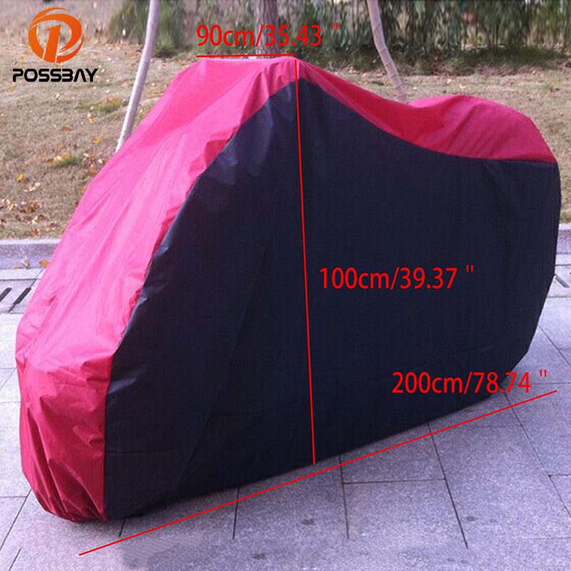 POSSBAY Motorcycle Covers Outdoor UV Protector Waterproof Dustproof Covering For Scooter Moped Motorbike Cover Funda Moto Housse
