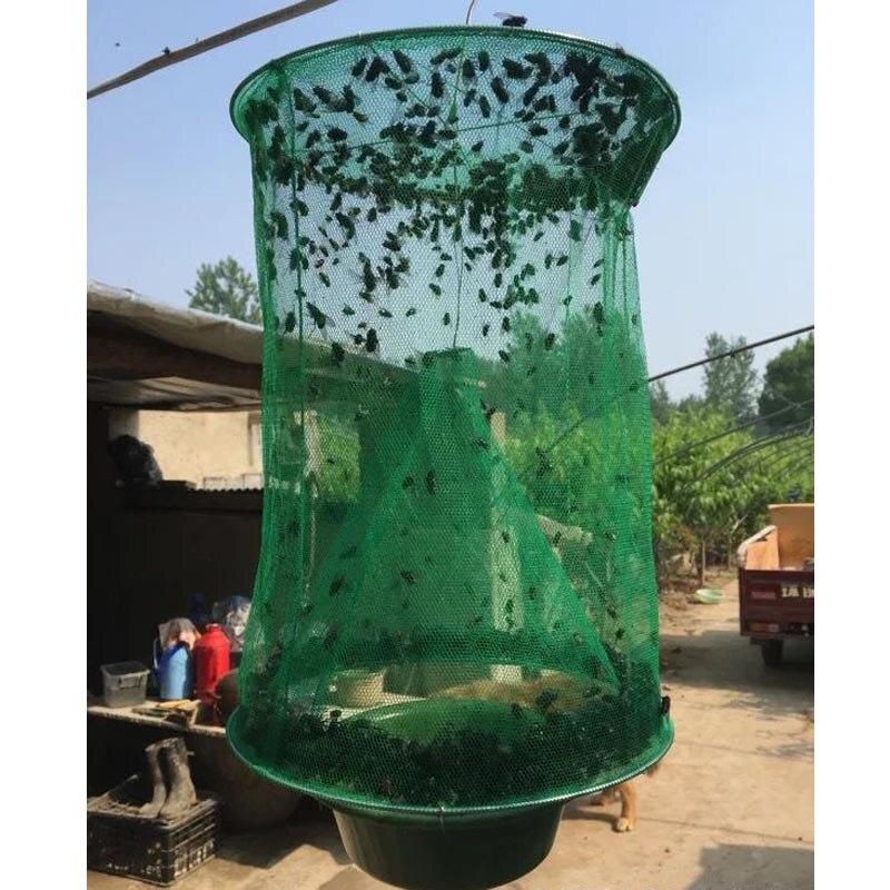 Fly kill <font><b>Pest</b></font> Control Trap tools Reusable Hanging Fly Catcher Killer Flytrap Zapper Cage Net Trap Garden Supplies killer-flies