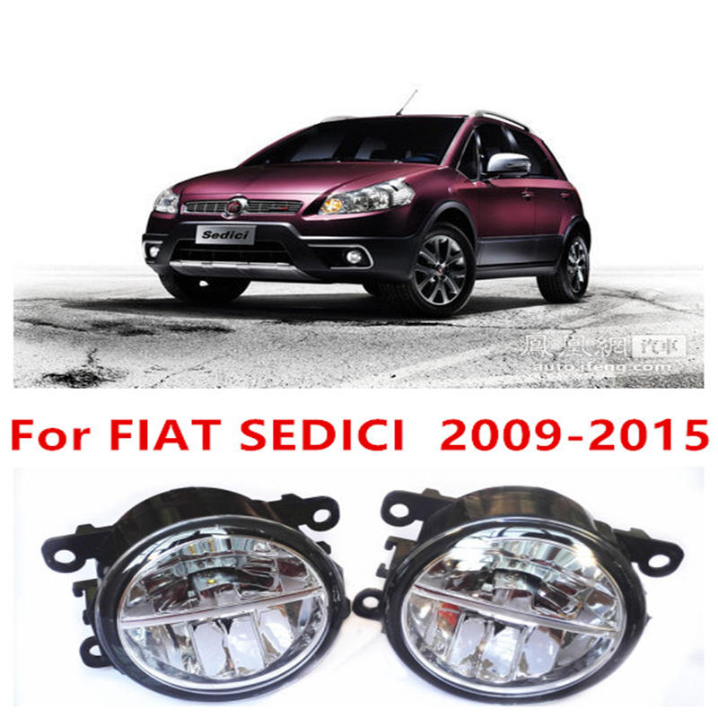 For FIAT SEDICI  2009-2015 Fog Lamps LED Car Styling 10W Yellow White 2016 new lights