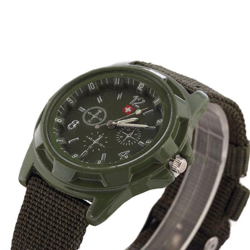 Military quartz watches men fashion Green Dial Army sport running watch for man chronograph cycling wristwatch for male   #D 4