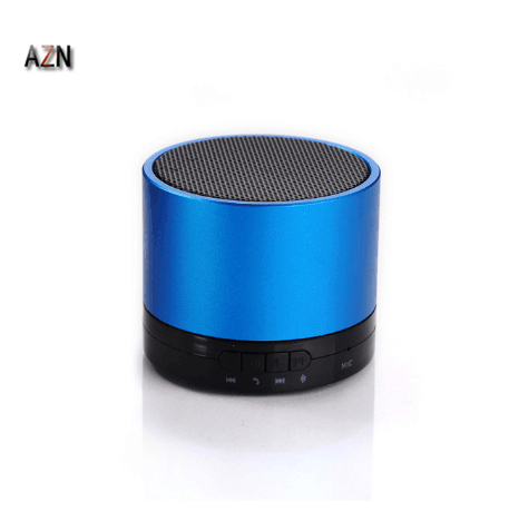 AZN S10 Wireless Bluetooth Computer Outdoor Sound Box Portable Audio Player Mini Button Mp3 Speaker For Mobile Phone Mp3 Mp4 Tab