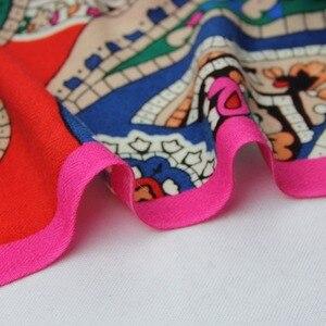 Image 5 - Nueva bufanda de Invierno para mujer marca de lujo Pashmina Cachemira manta de Poncho bufanda envoltura bufanda de lana mujer Bandana, hiyab musulmán chal