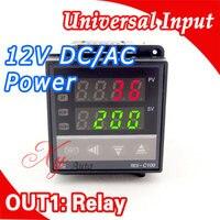Power 12V DC AC Digital Intelligent PID Temperature Controller Regulator Thermostat Thermocouple K J Sensor Input