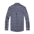 Luopei 2016 Autumn Mens Shirts 2 Color Cotton And Linen Casual Turn Down Collar Checkered Plus Size Slim FIt Dress Shirts