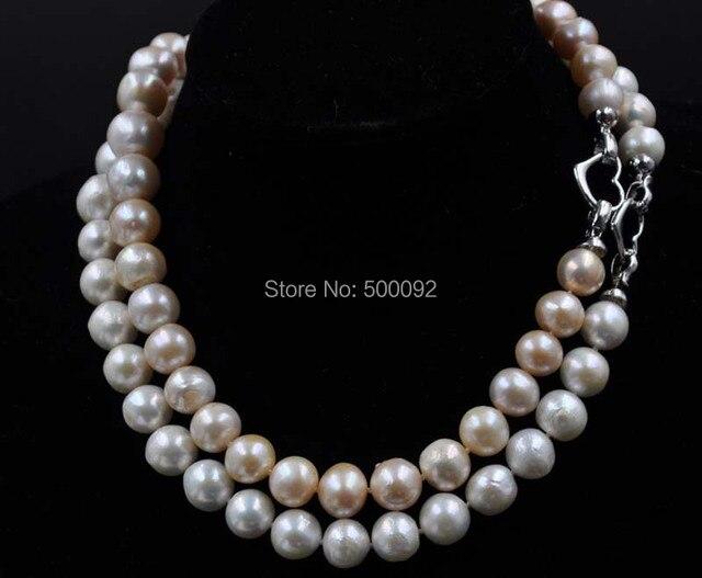 "Barroco 11-14mm cultivadas de agua dulce collar de perlas 18"""