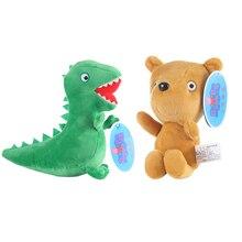 19 см Натуральная Свинка Пеппа Мягкая кукла Джордж Педро медведь Динозавр Детская плюшевая игрушка Детские Рождественские подарки