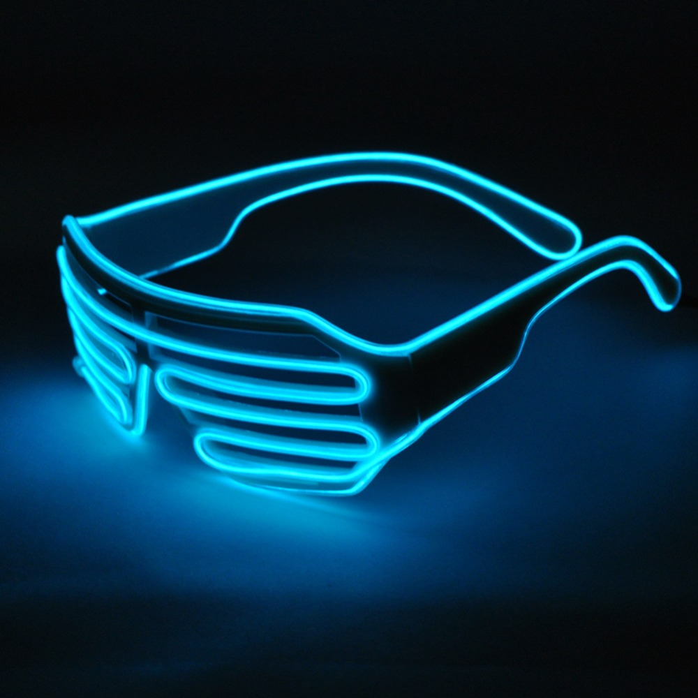 Wholesale 50pcs Blue el glasses El Wire Fashion Neon LED Light Up ...