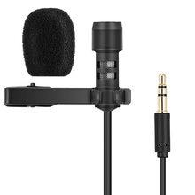 Micrófono con clavija R955 de 3,5mm, microcondensador con Clip, Cable de micrófono Lavalier para IPHONE y PC