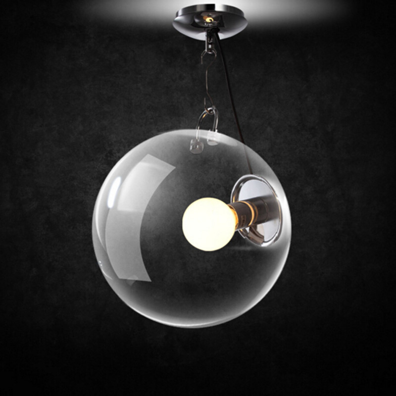 Modern European Vintage Glass Ball Ceiling Lamp Industrial Retro Bedroom Balcony Corridor LED Home Decor Light Free Shipping fumat modern minimalist bedroom ceiling light corridor balcony glass lampshade light kitchen round metal ceiling lamps