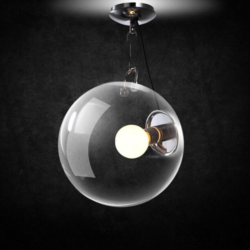 Moderne Nordique Rétro Boule De Verre LED Lampe Suspendue Industrielle Chambre Balcon Couloir LED Accueil Déco Savon Bulle Plafonnier
