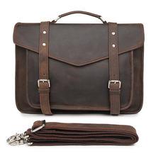 Crazy horse кожаный портфель мужской для ноутбука Бизнес Путешествия