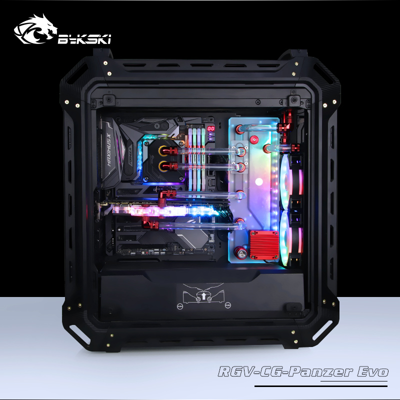Combo Ddc Pump Cool Water Channel Solution Packing Of Nominated Brand Sunny Bykski Acrylic Tank Use For Cougar Panzer Evo Computer Case 3pin 5v D-rgb