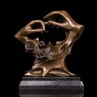 ATLIE BRONZES Abstract Statue Bronze Art Crafts Love Souvenirs Bronze Sculptures Golden Wedding Anniversary Gift