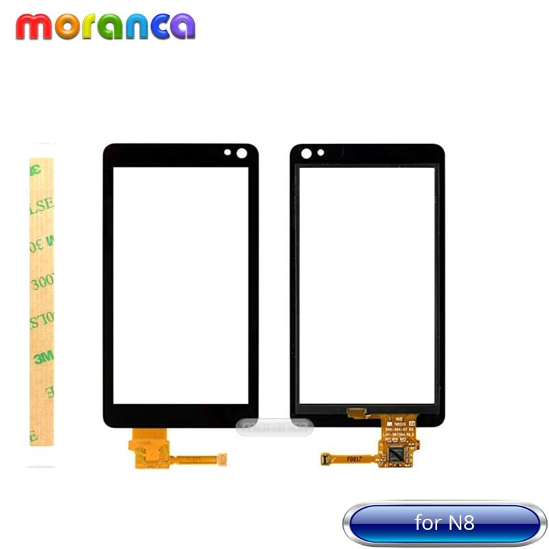 3.5 ''Écran pour Nokia N8 Écran Tactile Digitizer Façade En Verre Panneau Capteur Noir Écran Tactile Replacemant Pièces
