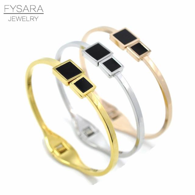 Fy Bijoux fysara titanium steel jewelry cuff bracelets & bangles women bijoux