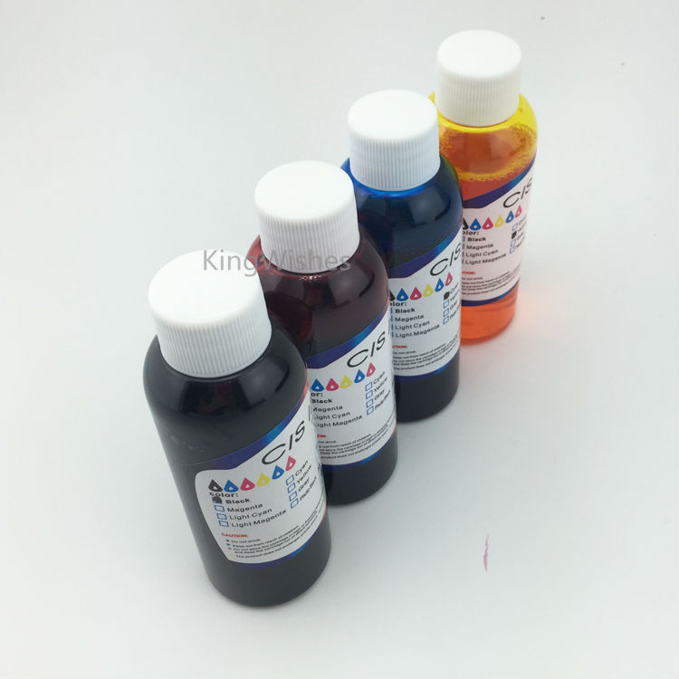 ФОТО Free Shipping 4PCS x 100ML T0921 T0922 T0923 T0924 Edible Ink For Epson C91 CX4300 Printer BK C M Y