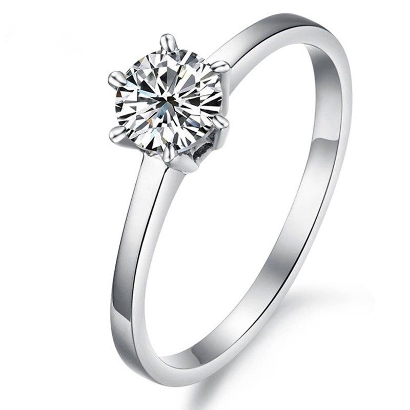 Groothandel vrouwen Accessoires Nieuwe Sieraden Supernova Verkoop Crystal Zilveren Ring 8 Harten 8 Pijlen Kawaii Wedding 8.6 mg Karaat-in Verlovingsringen van Sieraden & accessoires op  Groep 1