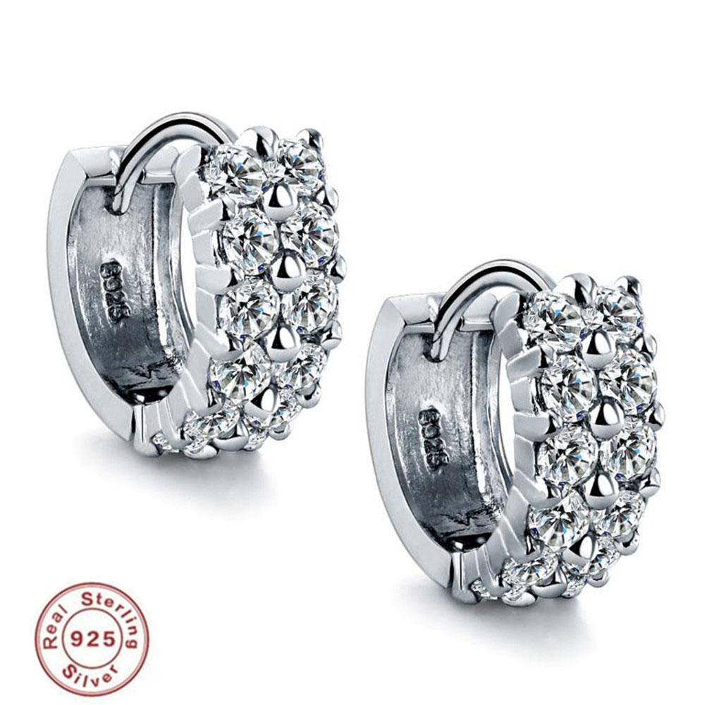 BFQ Women's S925 Sterling Silver Micro Inlaid AAA Zircon Stud