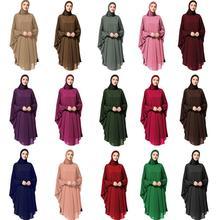 Muslim Women Hijab Amira Large Overhead Scarf Wrap Head Full Cover Dress Shawls Farasha Jalabiya Headwear Clothing Ramadan