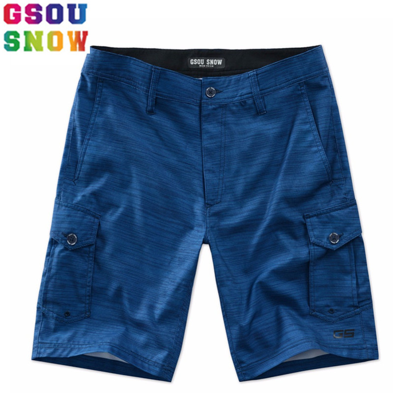 GSOU SNOW Brand Beach Board Shorts Men Swimwear Summer Swim Shorts Quick Dry Man Surfing Swimming Diving Motorboat Sea Sports