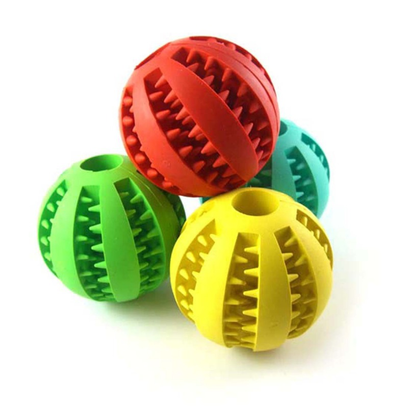 Rubber Balls Dog Chew Toys Puppy Cotton Chewing Ball Dog Toy Pet Toys Ball Tooth Cleaning Balls Food For Dog Hot Sale