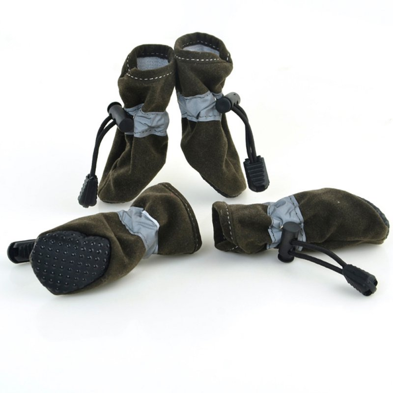 4пцс / сет Водоотпорне ципеле за псе, зимске топле, меке густе псе, прозрачне ципеле за ципеле Цхихуахуа Ципеле за кућне љубимце