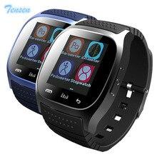 Moda a prueba de agua bluetooth m26 pulseras inteligentes wearable dispositivos de sincronización de smart watch conectar para android ios pk gt08 dz09 gv18