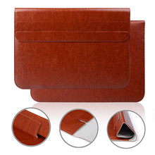 Brand New Smart stand pu leather Sleeve Case Cover Bag for Apple For Macbook 11