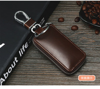 Free Shipping Key Cases Fashion Wearable Leather Business Car Key Set High end Multifunctional Anti theft Key Bag