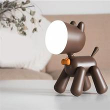 Waggy щенок Форма СВЕТОДИОДНЫЙ Ночник подарок спальня прикроватная лампа две формы регулирования USB перезаряжаемое освещение настроения