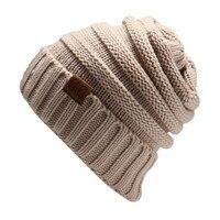 Patch Letter CC Bonnet Knit Hat For Men Women S Polo Knitted Hats Female Bone Spring