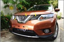 Honeycomb style! Front Grille Grill Bezel Cover Trim 3pcs For Nissan X-Trail 2014 2015 / Rogue 2014-2015
