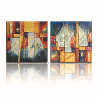 FREE SHIPPING 2014 Well Designs Abstract Canvas Arts Hot Sale Painting(Unframed)50x50cmx2pcs