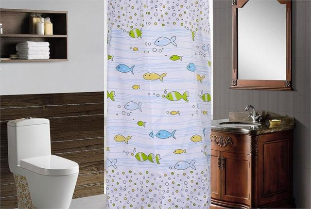 Thick Polyester Cloth Cold Temperature Warm Hanging Round Cartoon Baby Bath Shower Curtain Cover