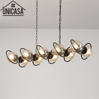 Modern Ceiling Lamps Amber Kitchen LED Glass Shade Lights Large Pendant Light Metal lamp fixture Bar lights home Lighting