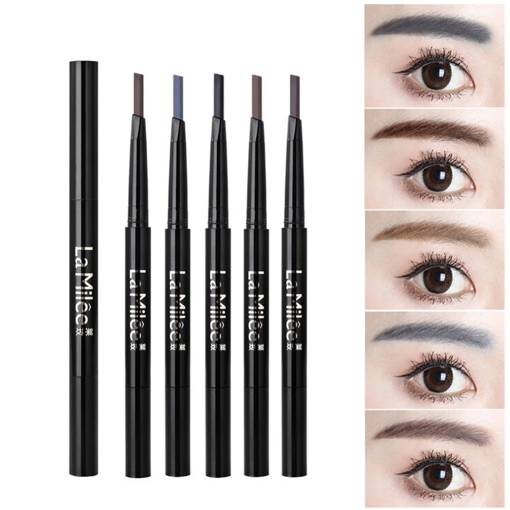 Double-End Eyebrow Pencil Sweatproof Colorfast Long-Lasting Eyebrow Pen Eyebrow Enhancers