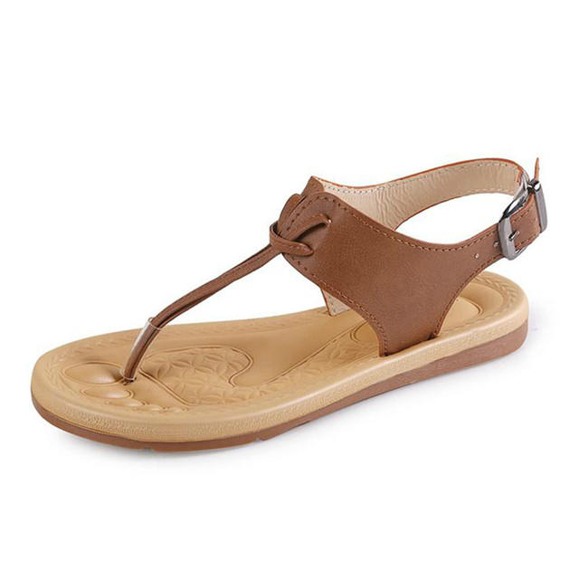 60e370f2f491f2 Fairy Forest Women Gladiator Sandals T Strap Simple Flat With Buckle Flip  Flops Woman Summer Casual Shoes XWS035