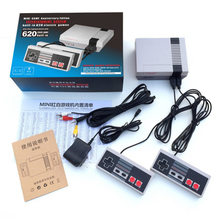 5pcs/lot AV Out Retro Classic Handheld Game Player Family TV Video Game Console Childhood Built-in 620 Games with dual game pad