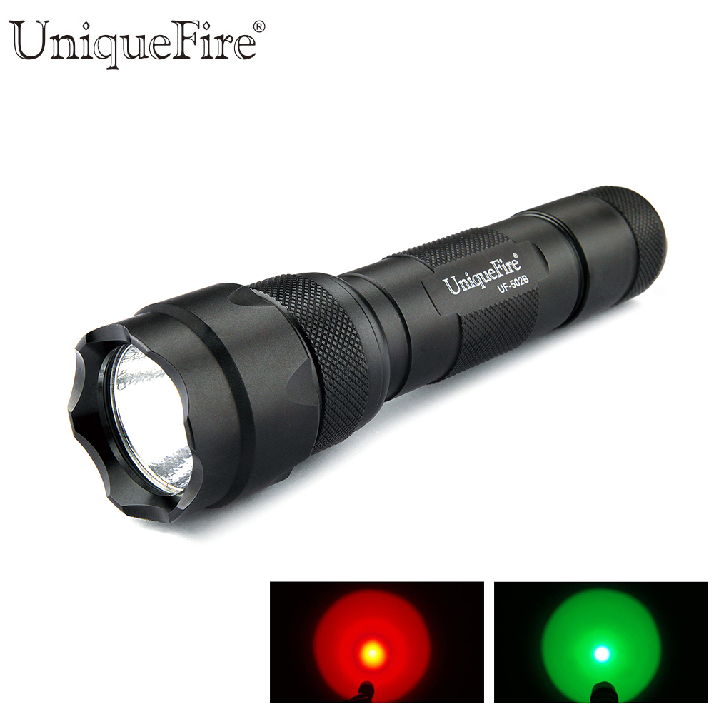 Mini Led Flashlight Uf-502b Xre Led Light Green/red/white 3 Modes Waterproof Outdoor Lamp Torch For Hunting Trip Led Lighting