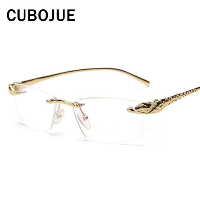 43c0bb72c8861 Cubojue sans monture or hommes lunettes cadre léopard large visage homme  lunettes Prescription lunettes de luxe
