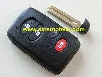 Gratis Verzending Hoge Kwaliteit 3 + Paniekknop smart card cover afstandsbediening key shell Fit Voor Toyota afstandsbediening sleutelhanger met emergency sleutel