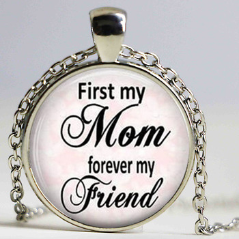 First Mom Forever My Friend Pendant, Mothers Day Necklace, Mothers Day Jewelry, Gift for Grandmother image