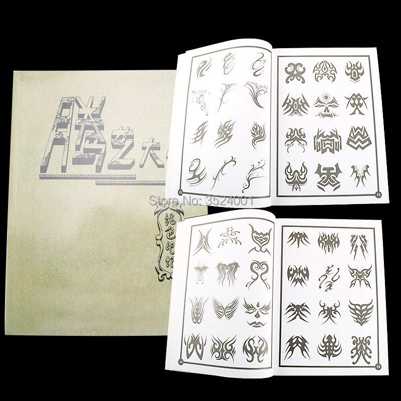 2014 new Mysterious symbols Fantasy Totem Dragon Phoenix Tattoo Flsh Book Sketch Free shipping