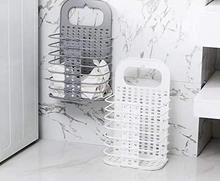 Folding Laundry Hamper Storage Basket Wall-mount Dirty Clothes Bin for Bathroom Bedroom Home